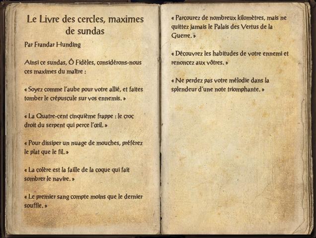 Le livre des cercles, maximes de Sundas