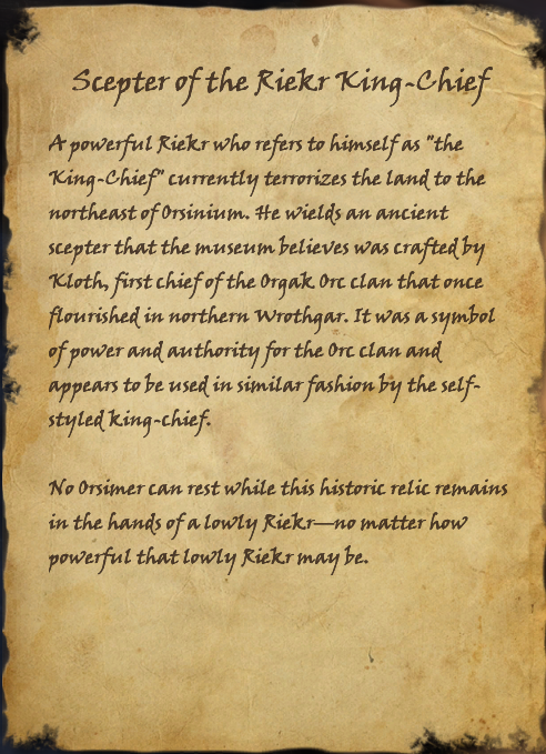 Scepter of the Riekr King-Chief (Book)