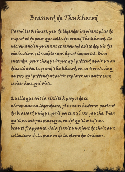 Brassard de Thukhozod (Livre)