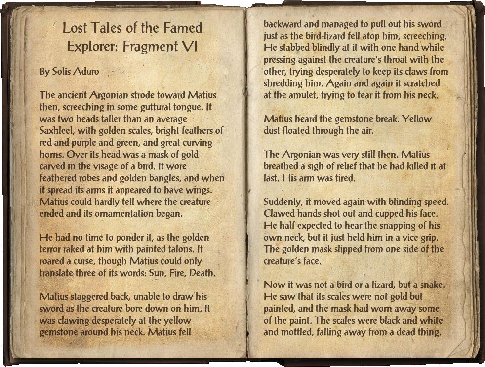 Lost Tales of the Famed Explorer: Fragment VI