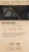 Steel Light Hammer