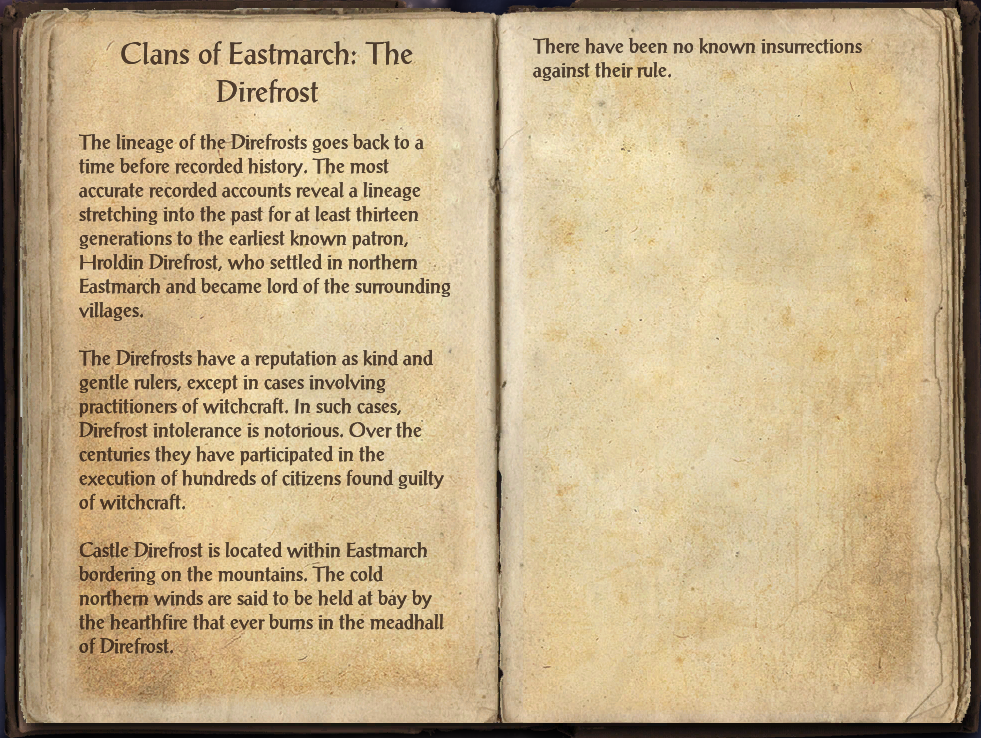 Clans of Eastmarch: The Direfrost