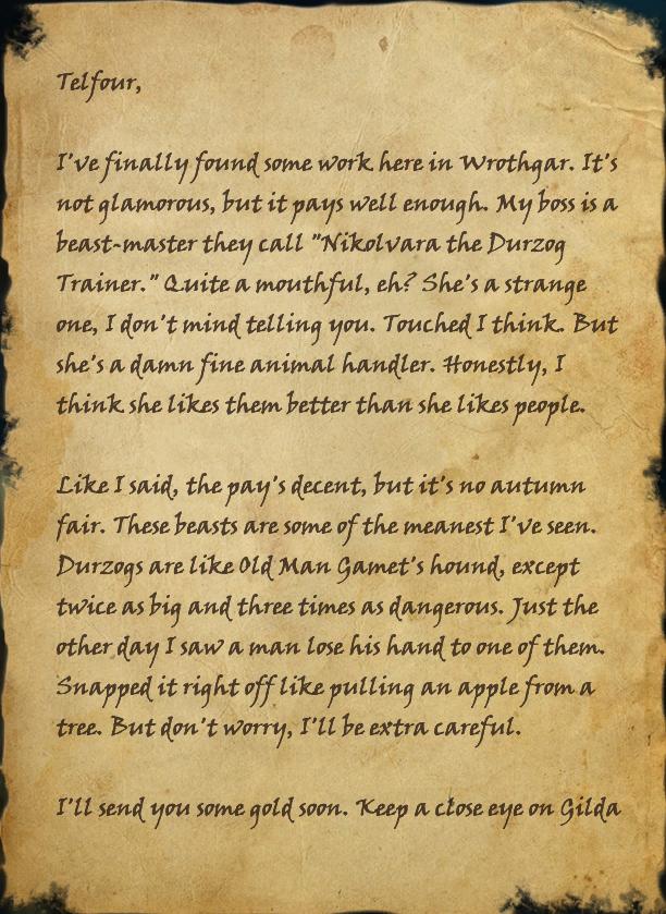 Kennel Tender's Letter