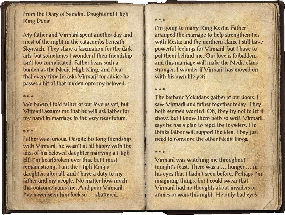 Saradin's Diary