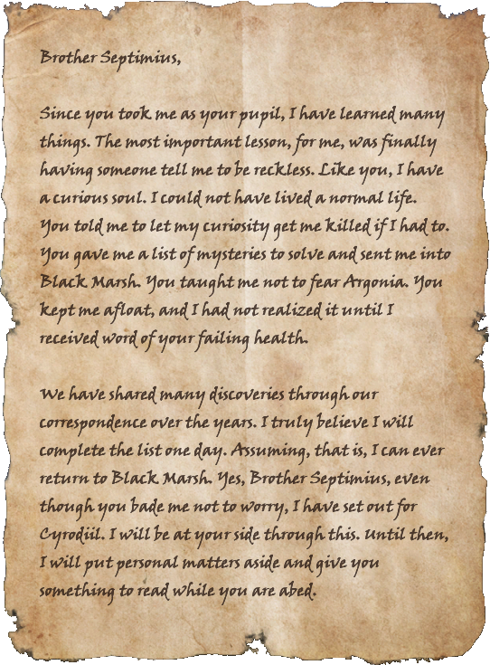 Letter to Septimius
