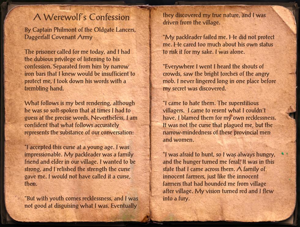 A Werewolf's Confession