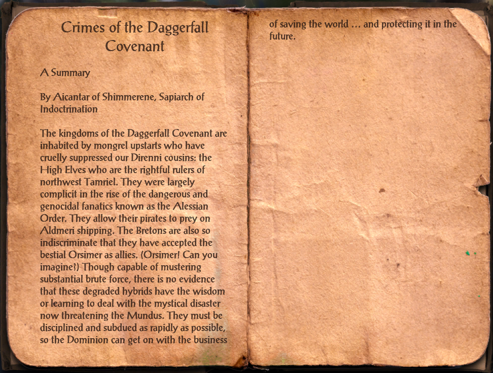 Crimes of the Daggerfall Covenant