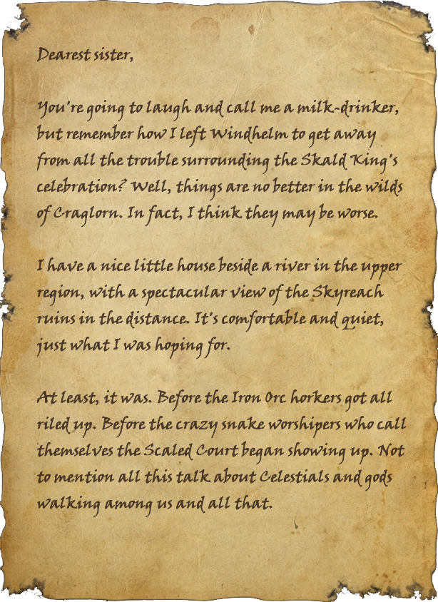 Letter to Windhelm