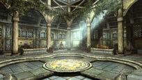 Храм Кинарет - главный зал с лучом света