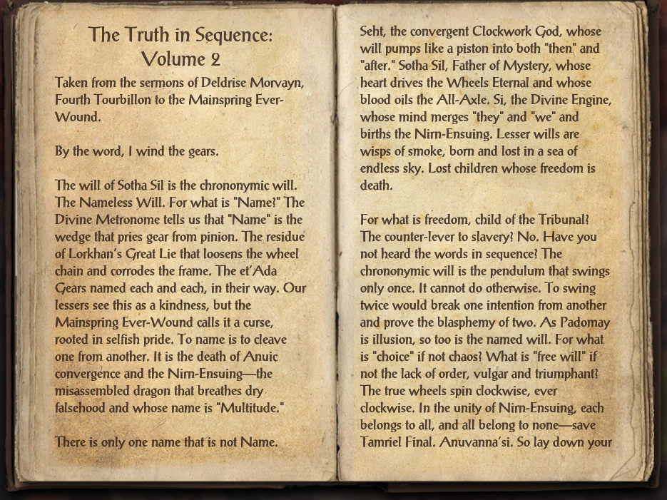 The Truth in Sequence: Volume 2