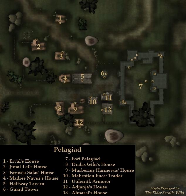 Pelagiad Locations