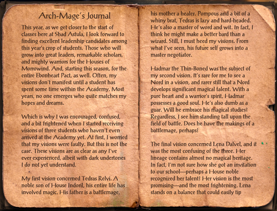 Arch-Mage's Journal