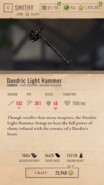 Daedric Light Hammer