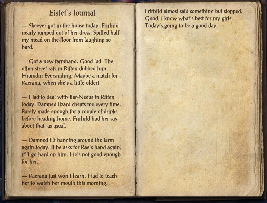 Eislef's Journal
