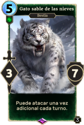 Gato sable de las nieves (Legends)