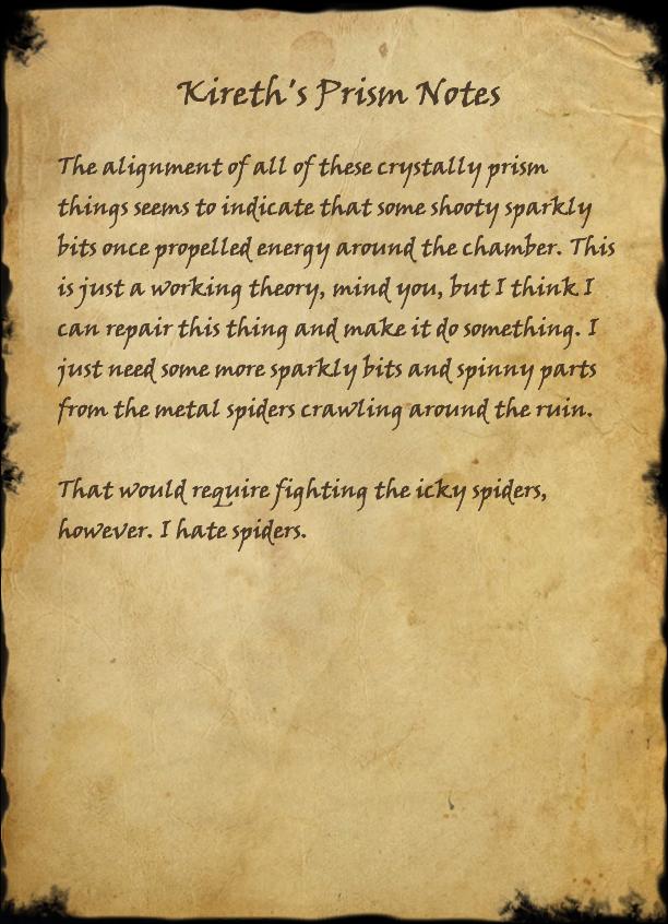 Kireth's Prism Notes