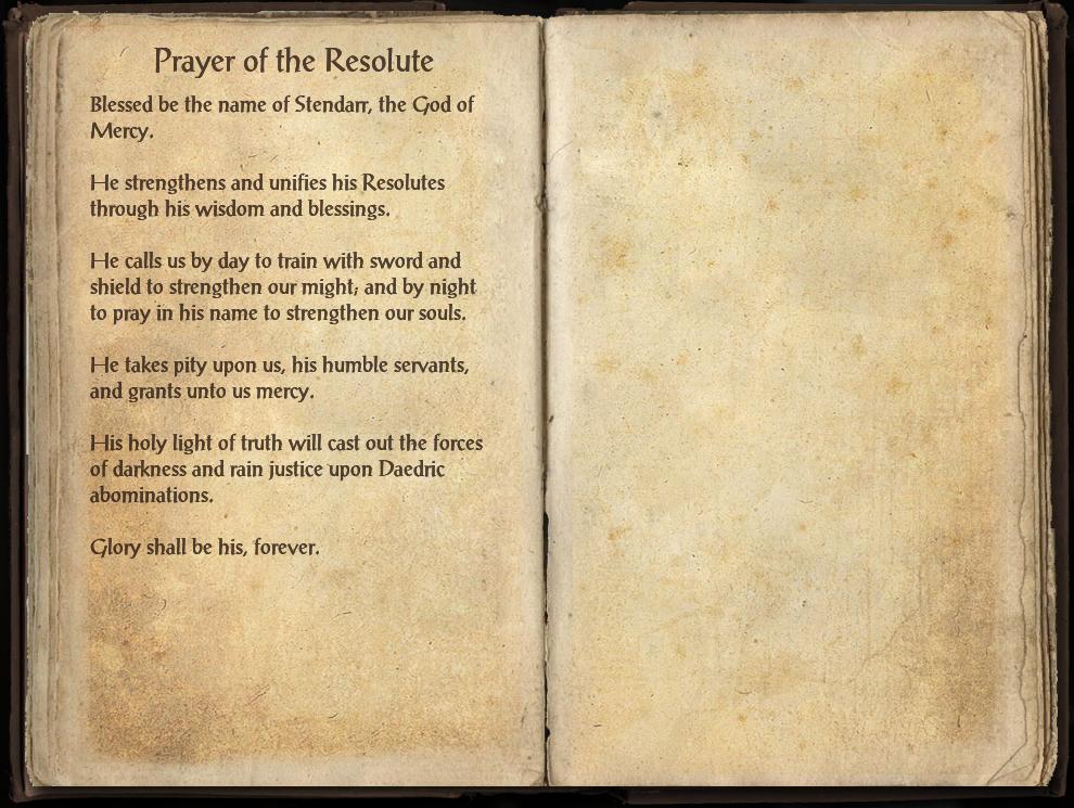 Prayer of the Resolute