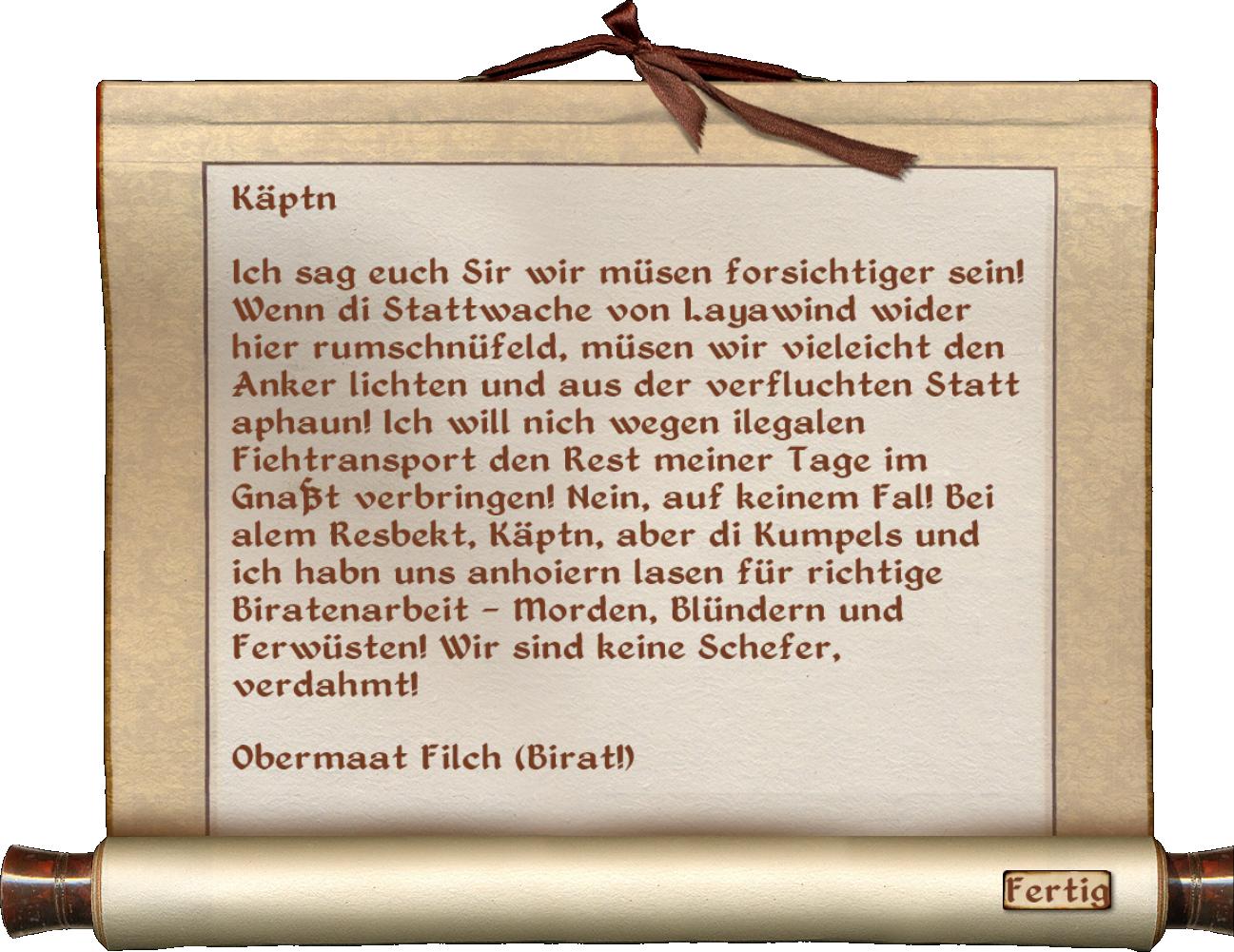 1. Maat Filchs Notiz