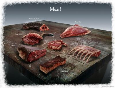Концепт-арт різноманітного м'яса, автор — Рей Ледерер.