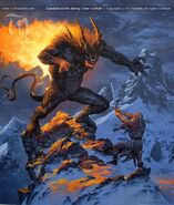 Ted-Nashmith-Gandalf and the Balrog Upon Celebdil-869x1024