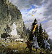 Ted Nasmith - The Stranger in the Forest