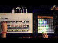 Roland TR-909 meets Ableton Push