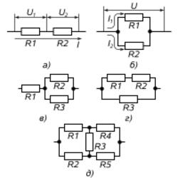 Соединение элементов электрических цепей