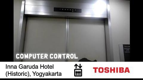 AMAZING Toshiba Service Elevator at Inna Garuda Hotel (Historic), Yogyakarta