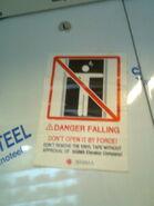 Sigma Warning Sticker on Door