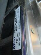 WECO door sensor label