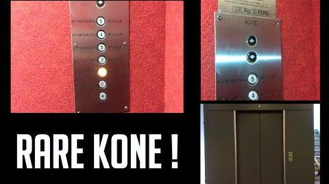 RARE old Kone-Westinghouse elevator - 123 Tête d'Or Street - Lyon, France