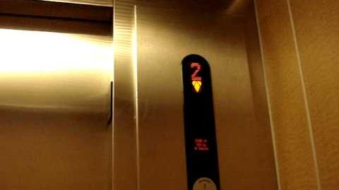 Kone EcoDisc KSS-370 Traction Elevators at Loft At City Center in Houston, TX.