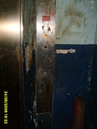 Another 1970s Fujitec freight elevator car station 2