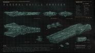 Чертеж Farragut Battle Cruiser 1