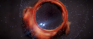 Black-Hole-Nebula-Lensing-Effect