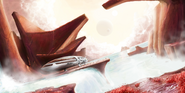 Elite-Dangerous-Orca-ship-atmospheric-landing-fan-art