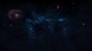 Видимые туманности из Asterope A