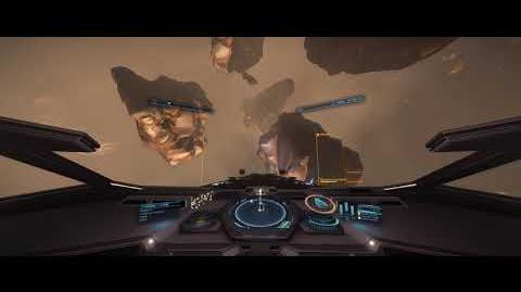 Elite Dangerous Deep core mining in an Anaconda