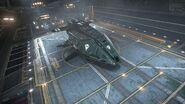 E-D Federal Dropship - Hangar Frontal Side View - High Res