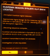 Guardian Beacon scan notification