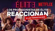Élite Netflix El reparto reacciona a las tomas falsas de Élite 2