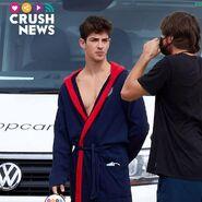 S4 BTS Manu Rios in a robe