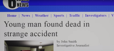 The newspaper's title in the alternate ending.