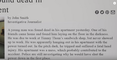 The article in the alternate ending.