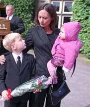 Zoe, Joseph and Jean at Chris' funeral.