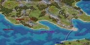 Mapa Campaña griega 2 Guerreros del mar (anotado)
