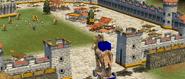 Caballo de Troya entra en la ciudad