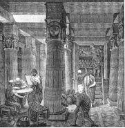 Aleksandrijska biblioteka (gravira)