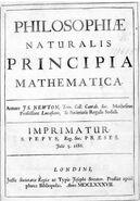 Naslovna strana Njutnovih Principa