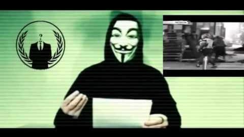 Message des Anonymous suite aux attentats de Paris le 13 novembre 2015